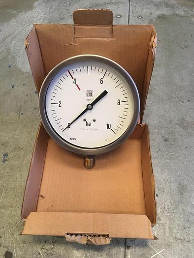 Nuova Fima Radial Pressure Gauge 0-10 bar