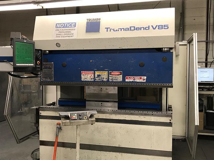 1996 95 Ton Trumpf TrumaBend V85 CNC Press Brake