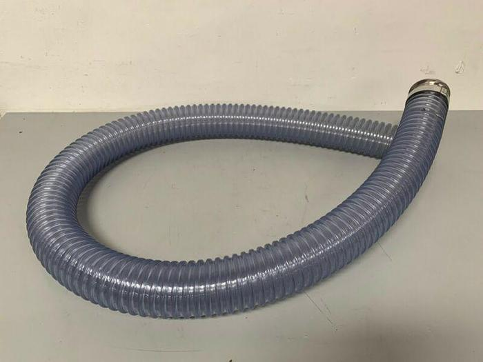"""Used Rubber FAB Technologies 88"""" Flexible Hose w/ 3"""" Sanitary Fittings"""