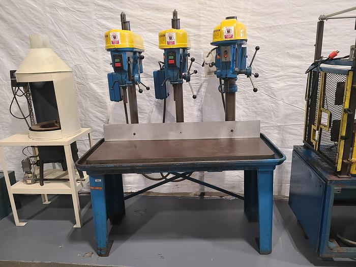 Used Triple Drill Press Table