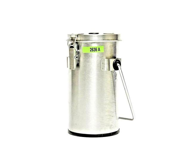 Used Thermo Scientific 2122 Wide Mouth Stainless Steel 1L Lab-Line Flask & Lid (2636A