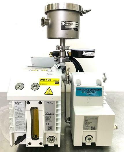 Used Leybold D8B 140082 Trivac Pump, AR 4-8 Exhaust Filter w/ Lubricant Return (7747)