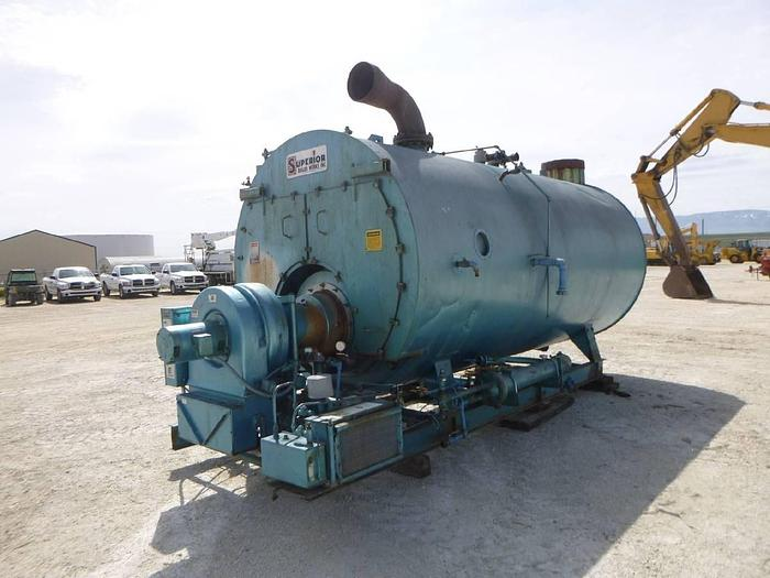 Used 1992 SUPERIOR 15 PSI Skid Mounted Low Pressure Boiler #2578 15 PSI