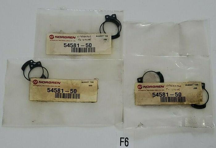 *NEW* LOT OF 3 NORGREN 54581-50 SOLENOID IN-LINE SEALS NUGGET 100 (2)J99 (1)K99