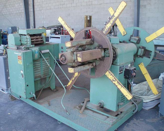 Used 2,500 lb. Perfecto Double-End Coil Reel and Straightener Combination