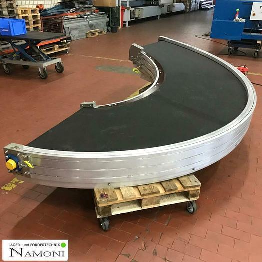 Gebraucht TRANSNORM Kurven Gurtförderer/ Förderband Kurve 180° 1600-105 helix