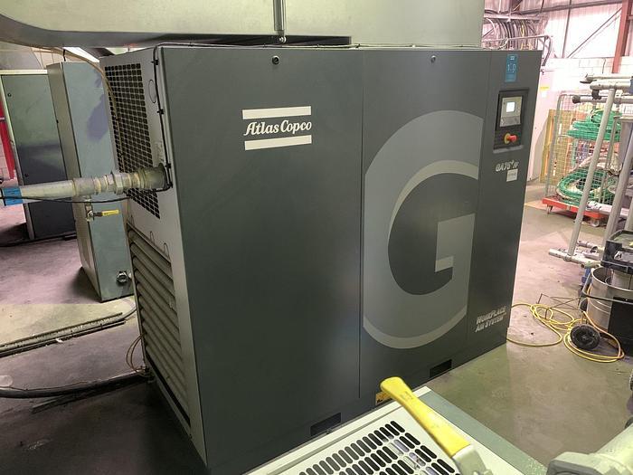 Used 2018 ATLAS COPCO GA75+ FF Air Compressor with Air Dryer