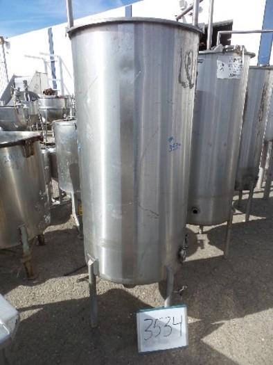 180 Gallon Vertical Stainless Steel Tank #3534