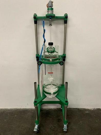 Used Chemglass 20 Liter Glass Reactor w/ Overhead Stirrer & Digital Temp Monitor