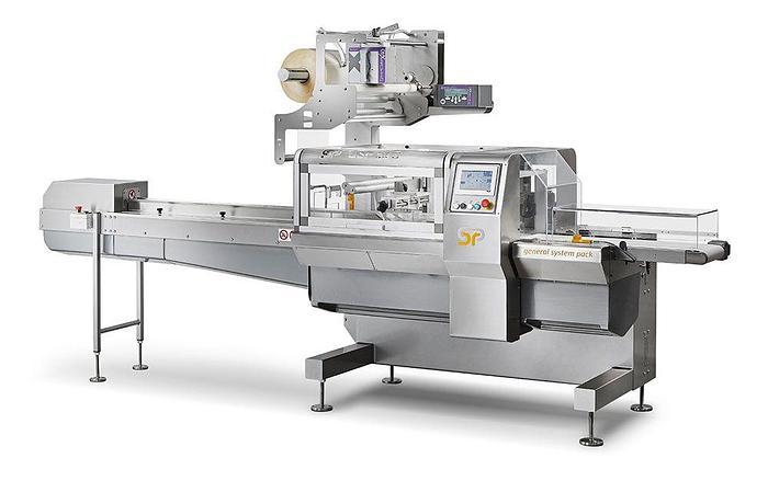 Horizontal flow wrapping machine GSP 50 EVO