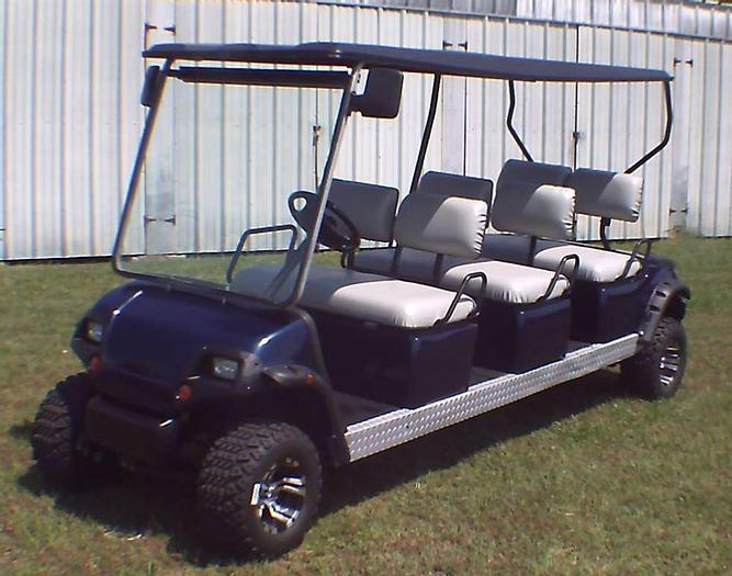 Used Yamaha Limo Golf Cart - 6 Passenger