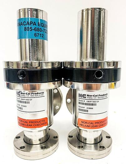 """Used Nor-Cal Products CSVP-1502-CF 1-1/2"""" Pneumatic Copper Seal Valve Lot of 2 (6712)"""