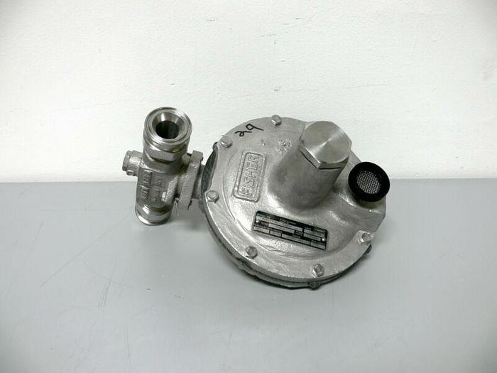 """Used Fisher Y695A SS Pressure Reducing Regulator 150PSIG 10-26 WC 2"""" OD Tri-Clamp"""