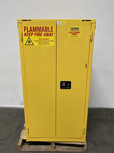 "Used JustRite BS60 60 Gallon Flammable Cabinet 65""x 34""x 34"" Manual Close"