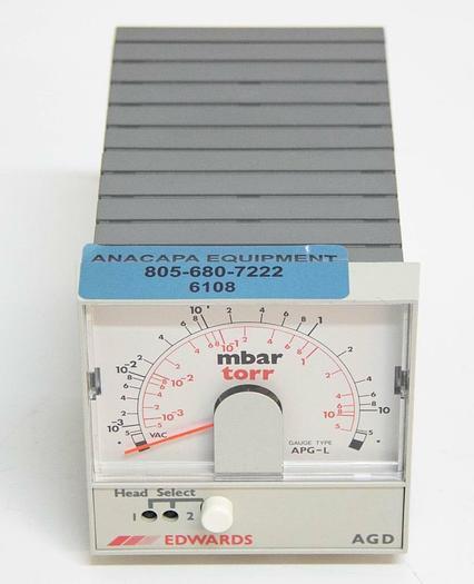 Used Edwards AGD Mbar Torr Dual Head Gauge Pirani L/No Relay D39566000 25 Watt 6108