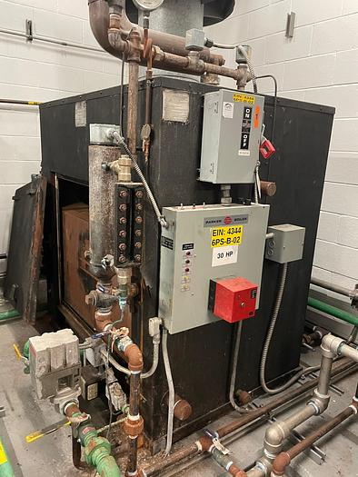 Used Parker Steam Boiler 30 HP 100 PSI