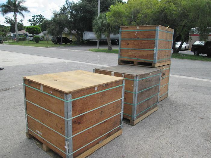 Used Shipping or Storage containers, boxes, wood crates (heavy duty) Shipping or Storage containers, boxes, wood crates (heavy duty)
