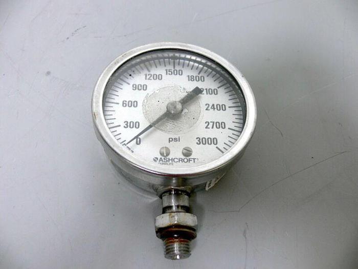 Used Ashcroft Duralife 3000 PSI Pressure Gauge