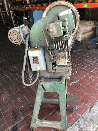 Used ROUSSELLE No. 0A Mechanical OBI Punch Press 5 Ton 1-1/4 Stroke 3-1/2