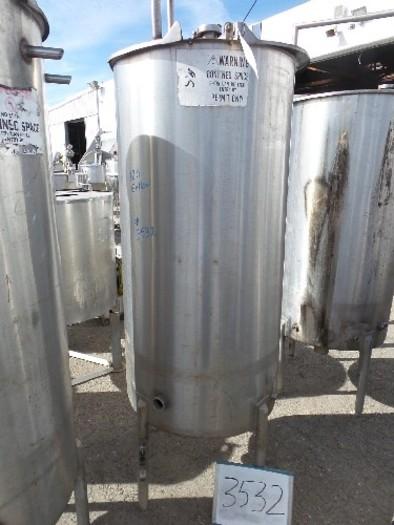 180 Gallon Vertical Stainless Steel Tank #3532