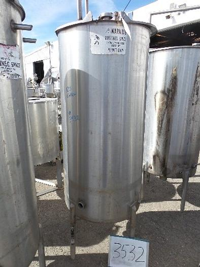 180 Gallon Vertical Stainless Steel Tank