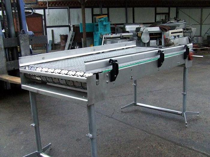 Używane 10-rzędowy przenośnik/stół zbiorczy (przykład wykonania) - nierdzewny