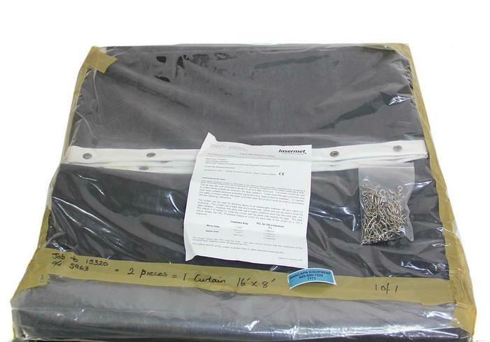 Lasermet Laser Blocking Curtain LBC 16' W x 8' H  NEW (7773) W