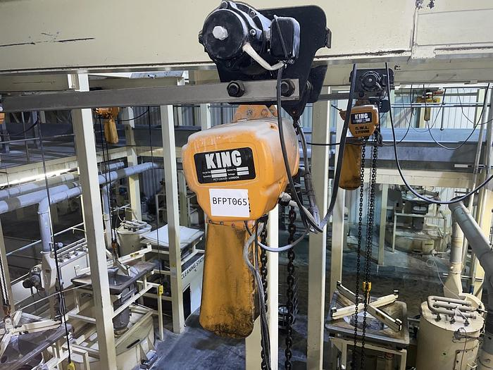 Used KING ES1000/2 Electric Chain Hoist