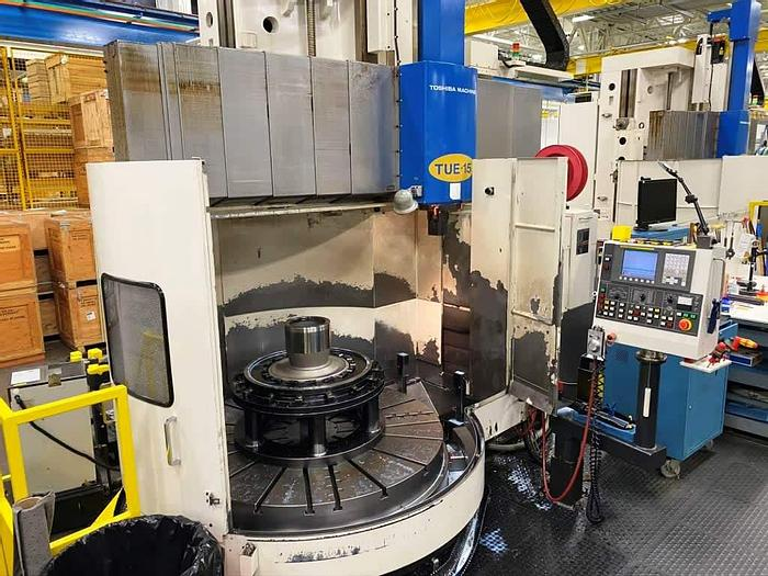 Used 2007 Toshiba Tue-15 CNC Vertical Turning Center