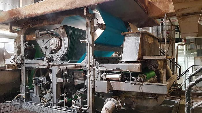 """Used 2.0M (79"""") HEDEMORA GL&V TWIN WIRE PRESS  200 TPD  1985"""