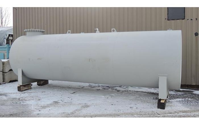 Used USED 3900 GALLON TANK, CARBON STEEL, HORIZONTAL WITH EPOXY LINING