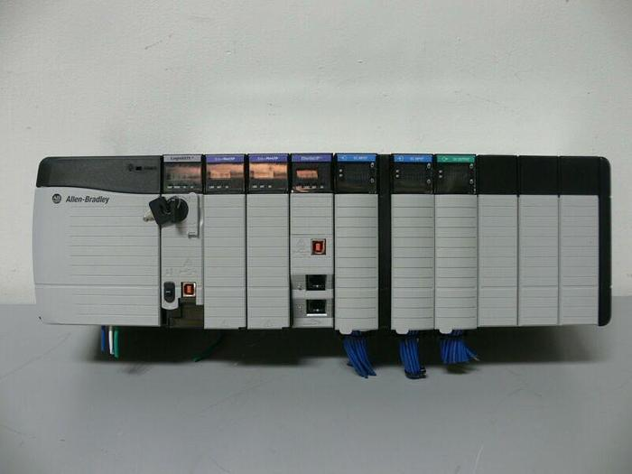 Used Allen Bradley Logix5572 Controller on 10 Slot Chassis w/ EtherNet/IP (x3)