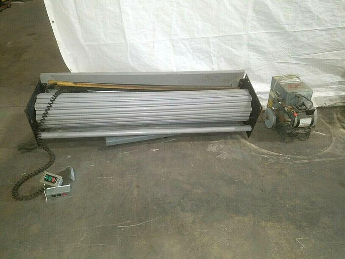 Used 5' x 8' Motorized Overhead Door Roll Up Door with motor and control