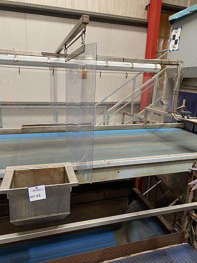 Used Steel Inspection Conveyor 4.7m L 1.3m W