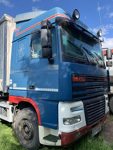 Gebruikt 2001 DAF 95 XF430 EURO 3 MANUAL 6X2 CONTAINER CHASSIS