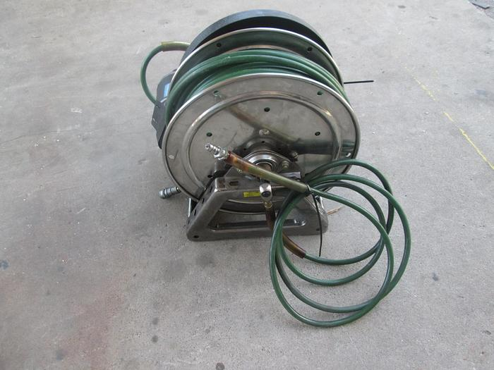 Used Hanney Reel Jaws of Life 100' Hydraulic Hose Reel With Motor