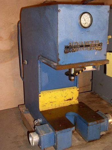 "2 Ton Advanced Hydraulics Gap Frame Press; 10"" x 12"" BA; 4"" - 6"" Str; Bench Model; $1,850"