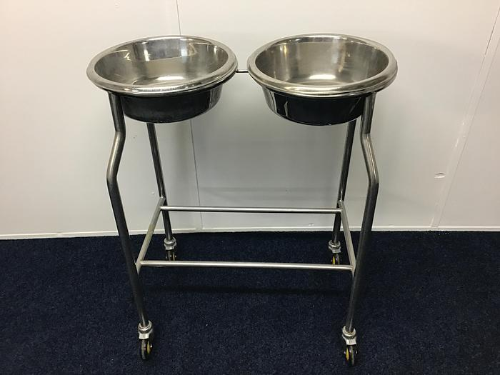 Used Double Bowl Stand Side by Side including Bowls