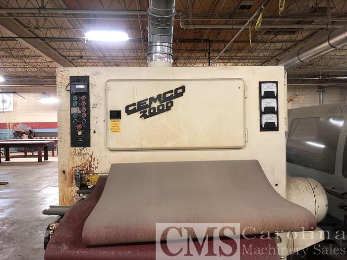 Used Cemco 2000 3-Head Wide Belt Sander