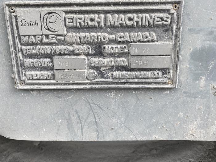 EIRICH DE-22 SAND MIXER
