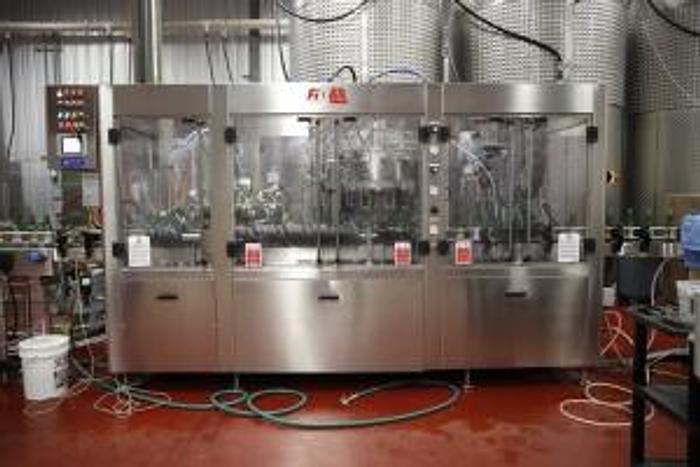 Used 2014 Fimer counter pressure bottling line