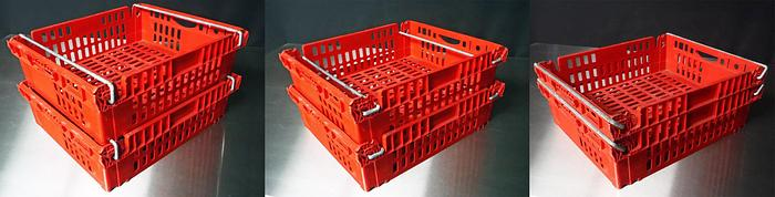 """Used USED STACKABLE AND NESTABLE CHILL TRAYS WITH TWO STACKABLE DEPTHS, 20"""" W X 24"""" L X 7"""" HIGH"""