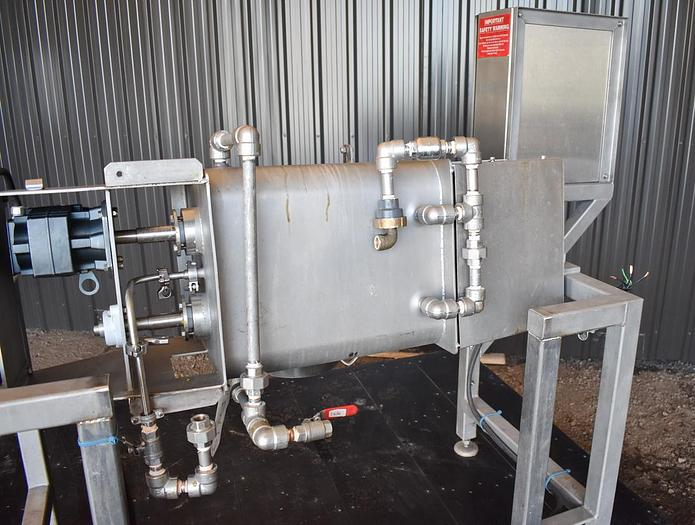 USED DOUBLE RIBBON BLENDER, 0.5 CUBIC FEET, JACKETED