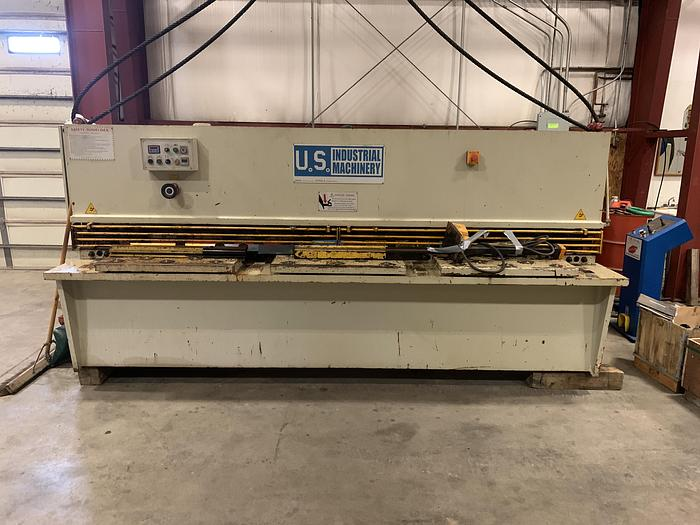 Used U.S. INDUSTRIAL MACHINERY SHEAR, MODEL US 1025 10' X .25