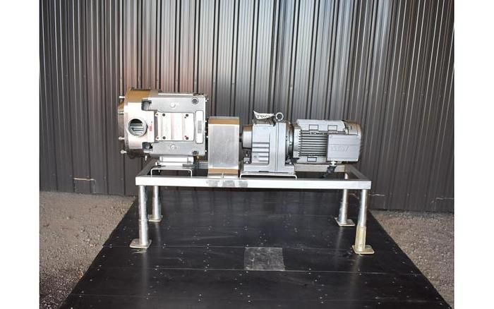 Used USED AMPCO ZP3-220 ROTARY LOBE PUMP, STAINLESS STEEL, SANITARY