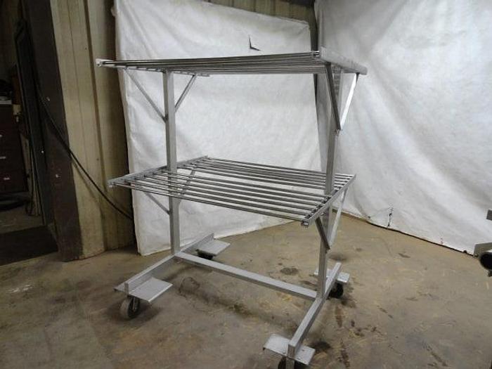 "Used Stainless Steel Nesting Racks w/ 50"" Smoke Sticks"