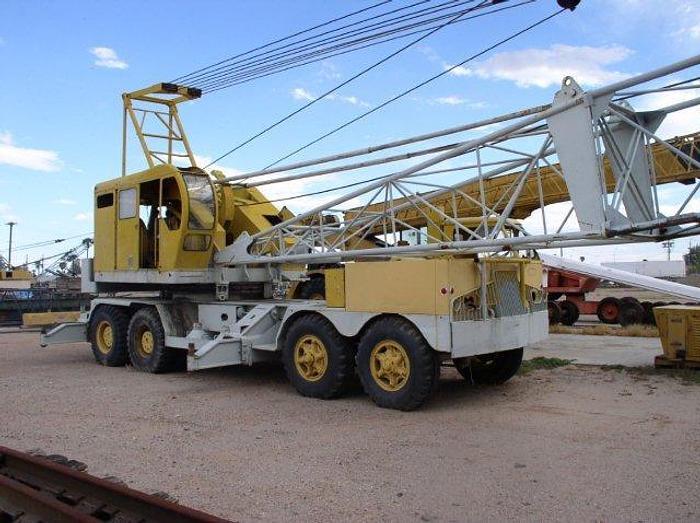 Used 80 Ton P & H Model 775A-TC Truck Crane; 125 ft Lattice Boom (tube type); Twin Diesels; 4 Axle