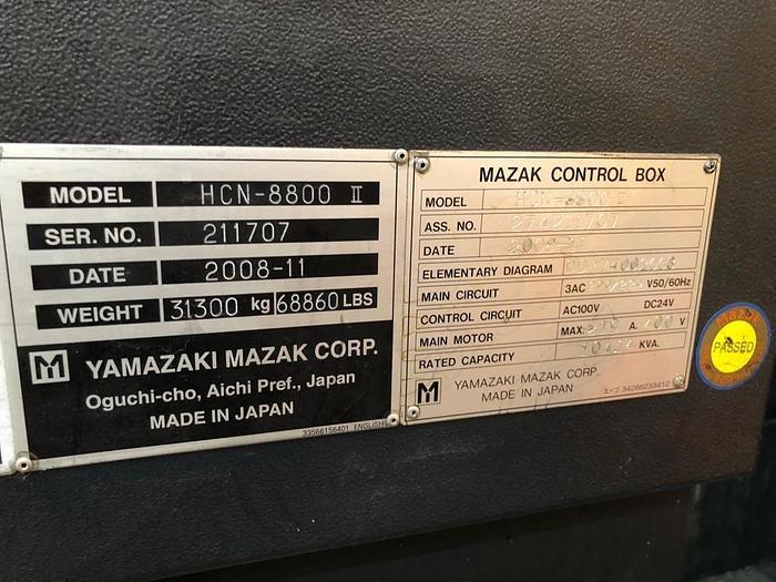 2008 - installazione 2009 MAZAK HCN 8800