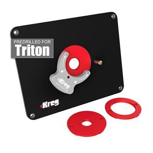 Precision Router Table Insert Plate - Predrilled for Triton