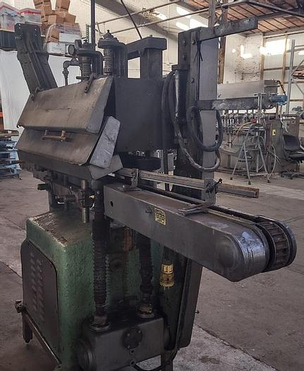 Used Owens Steam Capper with Magnetic Feeder - 58mm